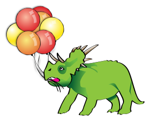 triceratops-with-balloons